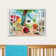 cute cartoon bug life home decor child wall sticker for kids room