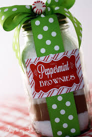 peppermint brownie mix for jar gift i heart nap time