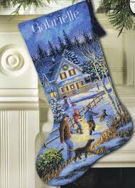 dimensions gold counted cross stitch kit christmas eve fun