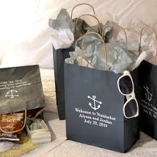 welcome baskets for wedding guests paper wedding hotel room gift bags personalized my wedding
