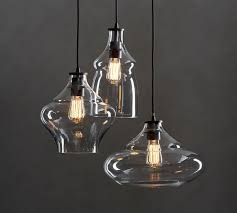 3 Pendant Light Mccarthy 3 Light Glass Pendant Pottery Barn