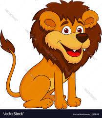 cute lion cartoon royalty free vector image vectorstock