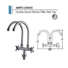 Kitchen Sink Tap  The Bathroom - Kitchen sink pillar taps