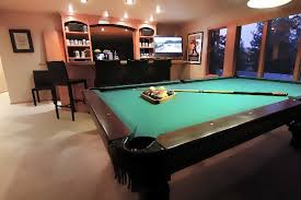 bars with pool tables near me spacious recreation room with pool table and wet bar interior tables