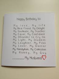 Things To Write In Boyfriends Birthday Card Husband Birthday Cards Husband Birthday And Birthday Cards On