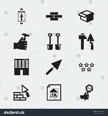set 12 editable construction icons includes stock vector 725686603