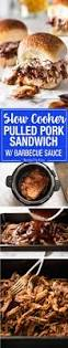 slow cooker bbq pulled pork sandwich recipetin eats