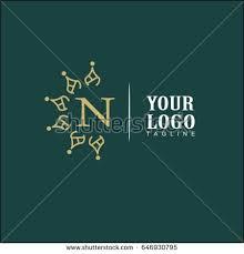 design logo elegant n letter luxury logo simple elegant stock vector 2018 646930795