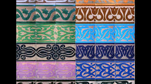 Blue Border Tiles Moroccan Hand Painted Border Tile Youtube