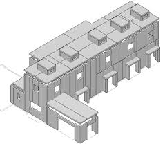 chouse modern sip 3d shop drawing construction prefab