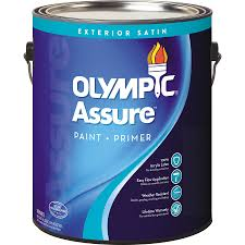 shop olympic assure satin acrylic exterior paint actual net