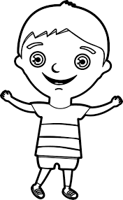 happy kids boy coloring page wecoloringpage