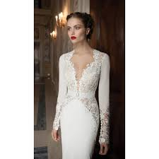 vintage wedding dresses vintage lace v neckline length wedding dress