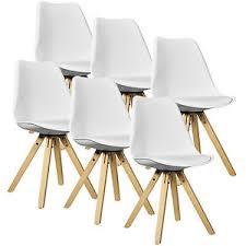 designer stühle esszimmer en casa 6x design stühle esszimmer weiß stuhl holz plastik kunst leder