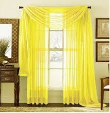 Yellow Valance Curtains Amazon Com Monagifts Bright Yellow Scarf Voile Window Panel Solid