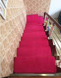 13pcs stair treads rectangle non slip carpet stair mats country