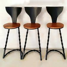 Wrought Iron Commercial Bistro Chair Bar Stool Used Bar Stools For Restaurant Wooden Bar Stools