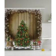 Vintage Style Shower Curtain Christmas Shower Curtains