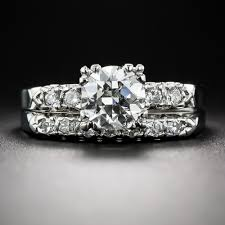 vintage wedding ring sets 96 carat diamond vintage wedding set i vs1