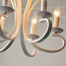 6 light modern chandeliers cheap painting gray white