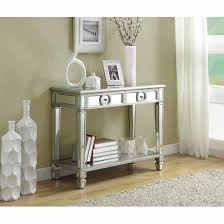 mirrored 38 inch sofa console table with two drawers free