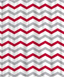 Pink And White Chevron Curtains Custom Colors Shower Curtain Chevron Or Stripes Red By Redbeauty