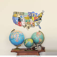 Usa Map Picture by Usa Map License Plate Style Metal Sign Travel Decor