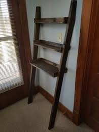 Leaning Bathroom Ladder Over Toilet by Walnut Finished Wooden Leaning Shelf Shelves Products And