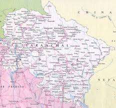 map in road uttaranchal uttarkhand map tourist and road map of uttaranchal