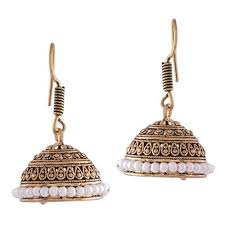 earrings image traditional copper jhumka earrings at rs 58 pair saraspur