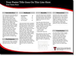 poster information