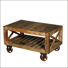 reclaimed wood coffee table with wheels rustic coffee table with wheels 23