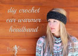ear warmer headband diy crochet ear warmer headband an hour with loom