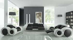 Set Sofa Modern Black And White Sofa Set Tos Lf 4088 Bw