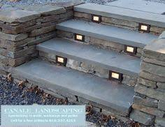 Retaining Wall Stairs Design Low Profile Contemporary Stair Lighting Treads Of Outdoor