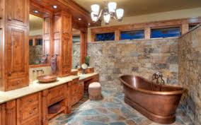 rustic bathtub square mirror feat simply ceiling lights rustic
