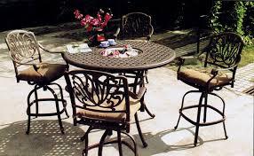 Patio Bar Height Tables Metal Patio Furniture Sets Pieces The Home Depot Regarding Bar