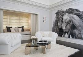 Living Room Without Coffee Table by Nicole Fuller Interiors Nicole Fuller Interiors