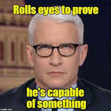 Rolls Eyes Meme - anderson cooper rolls eyes imgflip