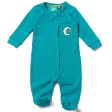 lgr peacock blue pointelle babygrow