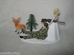 camo wedding cake toppers wedding reception party buck deer camo cake