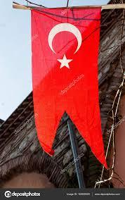 Turkey National Flag Turkish National Flag Hanging In The Street U2014 Stock Photo