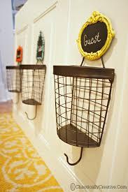 diy wire basket coat rack