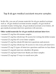 top 8 ob gyn medical assistant resume samples 1 638 jpg cb u003d1431822364