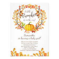pumpkin baby shower pumpkin baby shower invitations announcements zazzle