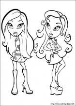 bratz coloring pages coloring book 11905 bestofcoloring