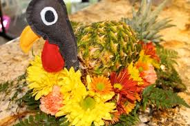 thanksgiving turkey centerpiece pineapple turkey for thanksgiving centerpiece live pretty