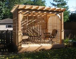 outdoor deck ideas small and cheap eco friendly attached pergola