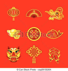 Lunar New Year Decoration Vector by Vector Clipart Of Chinese New Year Symbols Chinese New Year