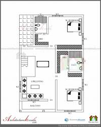 architectural drawing of simple residential building ground floor